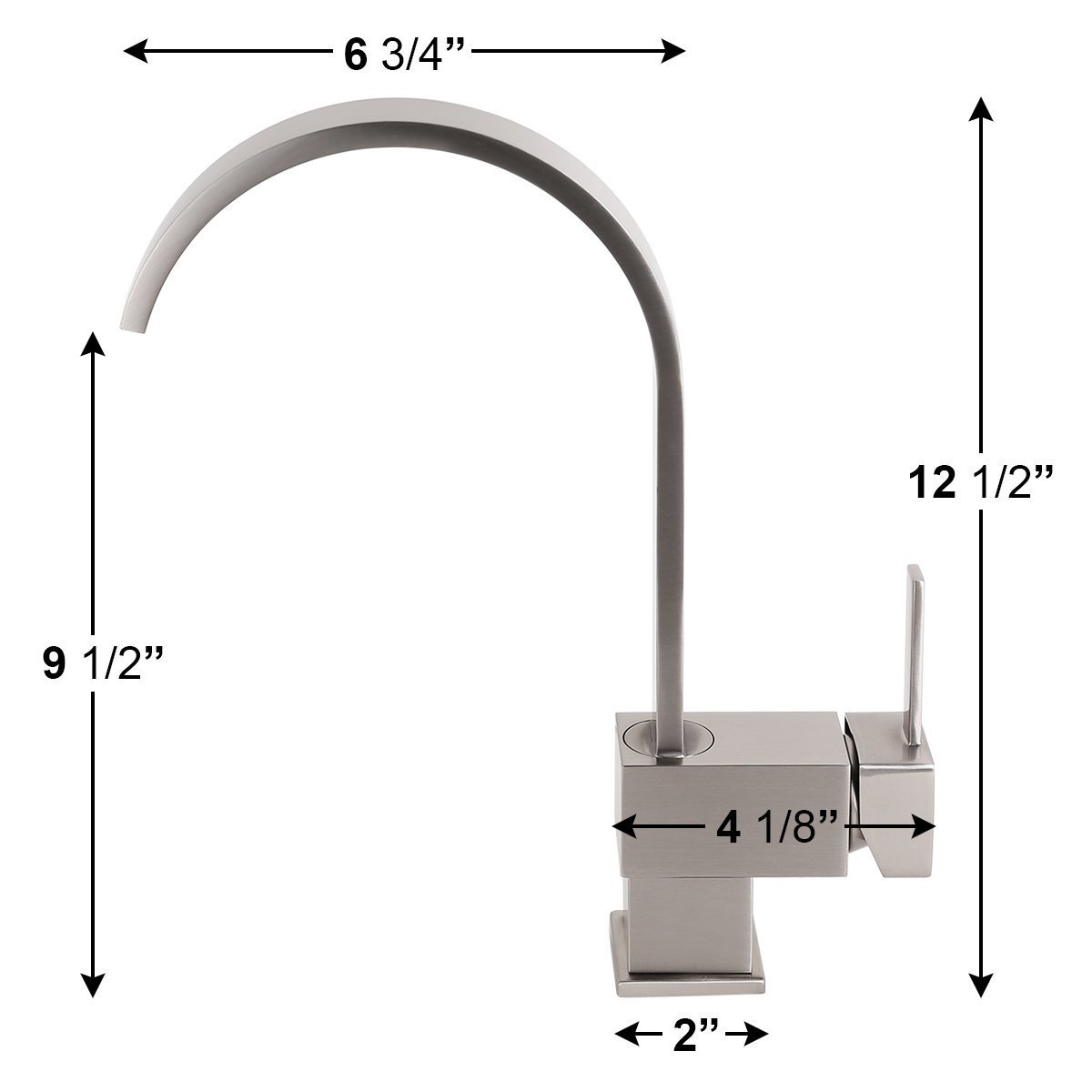 Yodel Swivel Head Modern Kitchen/Wet Bar Sink Faucet, Brushed Nickel by Yodel faucet