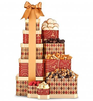 The Grand Gift Tower Basket For Mom Baskets Moms Birthday