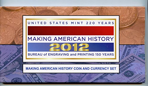 2012 S Silver Eagle Making American History Coin and Currency Set $1 Brilliant Uncirculated US Mint
