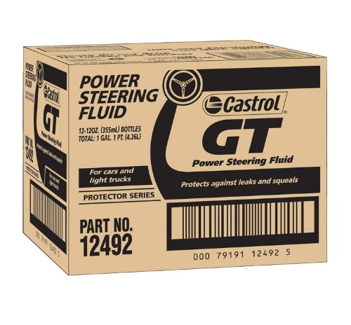 Castrol 12492-12PK GT Power Steering Fluid - 12 oz., (Pack of 12) by Castrol