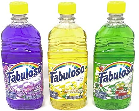 Fabuloso Multi-Purpose Cleaner 16.9 FL OZ Variety Pack of three (Passion of Fruits, Lavender, Lemon) (1 of Each, Total of three)