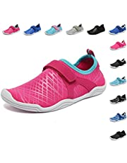 3d596f367 FANTURE Girls & Boys Water Shoes Lightweight Comfort Sole Easy Walking  Athletic Slip on Aqua Sock