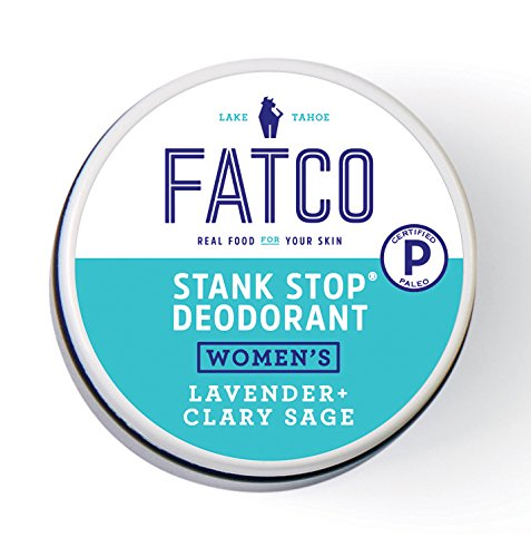 FATCO Women's Stank Stop Deodorant, Tallow, All Natural, Paleo, Lavender & Clary Sage Jar, 1 oz