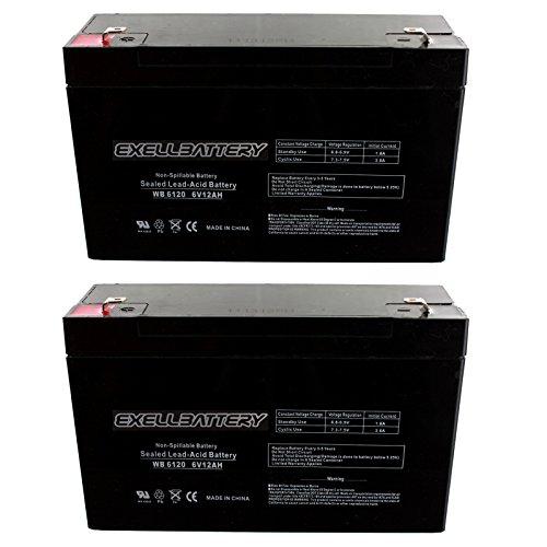 2 Pack 6V 12Ah SLA Battery Replaces Tripplite UB6120 Modified Power Wheels, WB6120F1 for UB6120, WKA6-12F, PS6100 Many Uses Alarm System, fire Alarm, Burglar Alarm, UPS Backup Battery, Smoke Detector