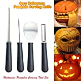 Big-time 4PCS Pumpkin Carving Kits,Professional Stainless Steel Pumpkin Carving Tools Halloween Sculpting Kit,Easily Carve Sculpt,for Kids Adults Party Decorations