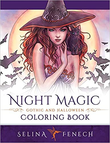 Image result for night magic gothic and halloween coloring