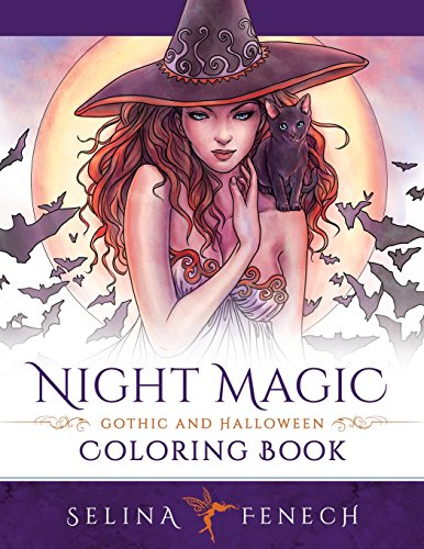 Halloween Fantasy (Night Magic - Gothic and Halloween Coloring Book (Fantasy Coloring by Selina) (Volume 10))