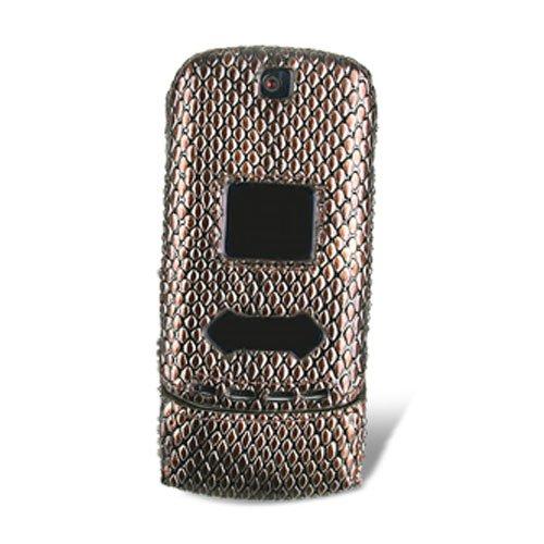 Cases Krzr Phone Cell (Naztech Motorola KRZR Snap-On Cover - Alligator Brown - CDMA)