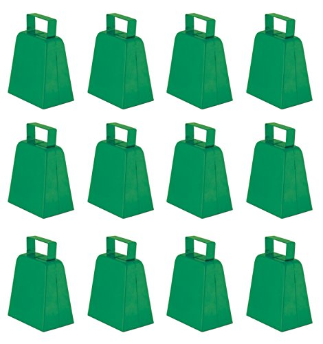 Beistle 12-Pack Cowbells, 4-Inch, Green -