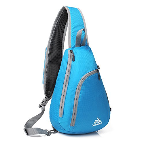 Chest Men Cover Hiking Pack Sport Camping Blue Women Bicycle Rucksack Docooler Travel Bookbag Packable Backpack Sling Bag For Crossbody Shoulder 8xxfT0qwI