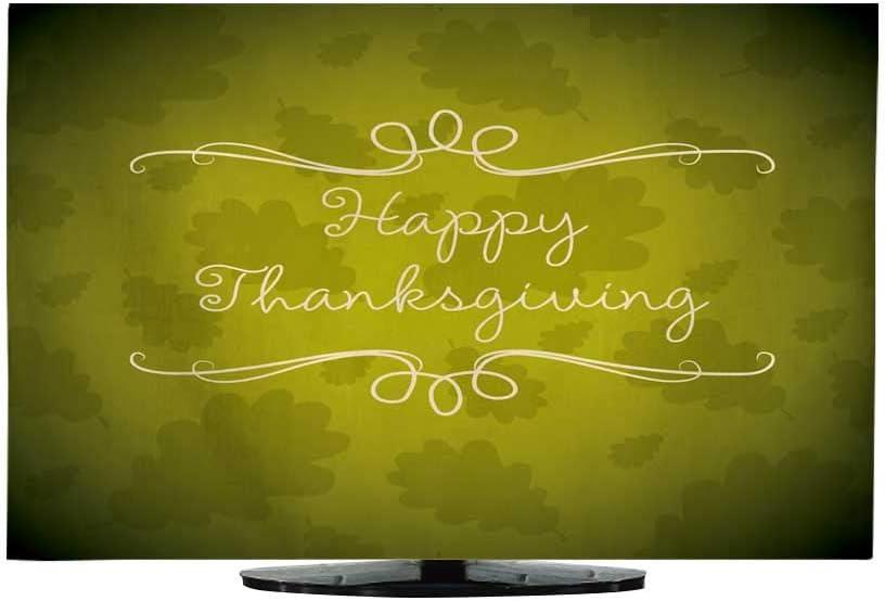 Funda de TV para Colgar con Texto en inglés Happy Thanksgiving Card en Formato Vector de 30
