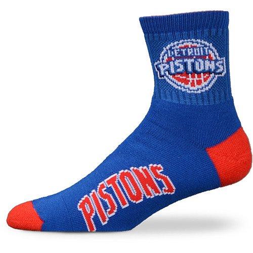 NBA Detroit Pistons Men's Team Quarter Socks, Large ()