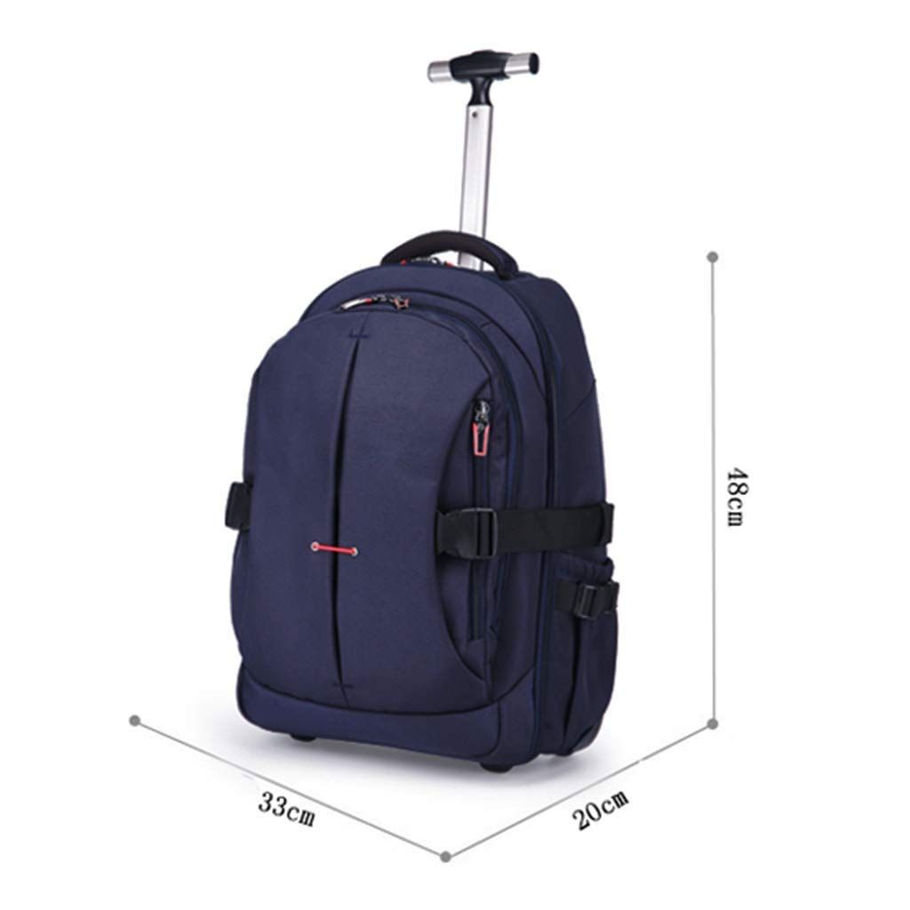 Color : Blue, Size : 19inch FANQIECHAODAN 19inch,21inch Trolley Case Multi-Function Shoulder Bag Outdoor Travel Trolley Case Single Rod Unisex Backpack Shoulder Travel Rucksack Trolley Bag