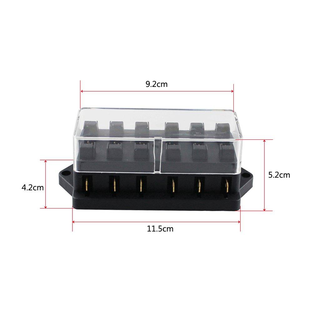 H HILABEE 6-Fach Sicherungshalter KFZ Standard Bsicherungsdose 6-Wege 5A //10A // 15A // 35A //25A // 30A