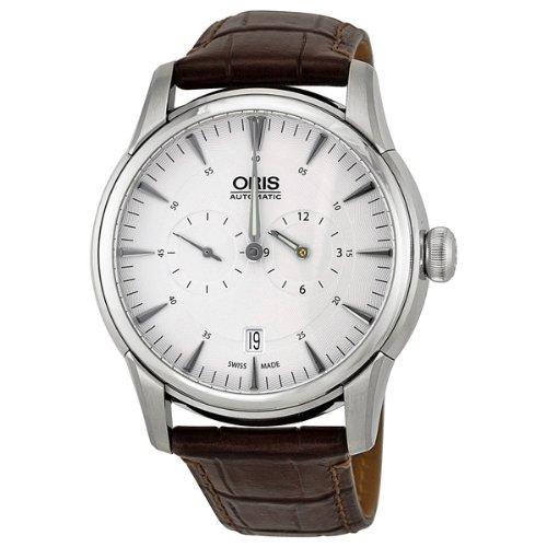 Oris-Artelier-Regulateur-Automatic-Silver-Guilloche-Dial-Mens-Watch-749-7667-4051LS