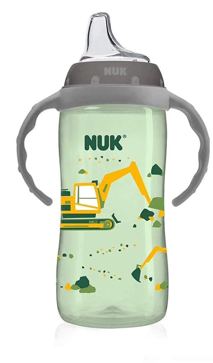 NUK 10 Ounce Jungle Large Learner Cup With Handles, 2 Pack, Boy by NUK