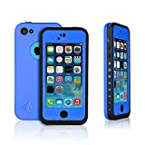 Weksi®Iphone 5c Cases, Weksi®Dust Proof, Snow Proof, Shock Proof, Waterproof Cases for Iphone 5/5c with Rugged Protection Iphone 5 Cover(Light Blue)