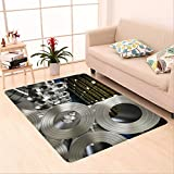 Sophiehome skid Slip rubber back antibacterial  Area Rug d rendering roll of steel sheet in factory 507934498 Home Decorative