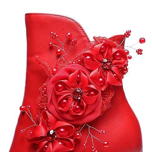 A Rosso Partito Tacco Di Punta Caviglia Vimisaoi Donne Delle Piattaforma Nuova Modo Cerniera Sposa Appliques Stivali Alto Da Punta Tpw6vBwqx