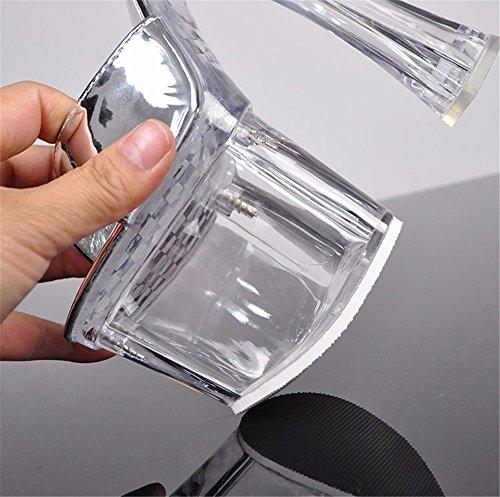 Cristal Ultra Femme Unique L'Ultra Silver Cool 18Cm Et Catwalk Stable Chaussons Bold HXVU56546 Étanche D'Épaisseur Transparent FR71pcc