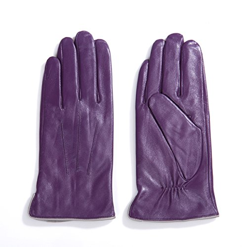 MATSU Women Lady's Clown Green Purple The Joker of Batman Cosplay Costume Leather Gloves (XL, (Female Joker Costumes Batman)
