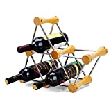 JHOME WINE RACK Freestanding Wine Rack Wine Bottle Wine Rack Vintage Style Elegant Stand Stainless Steel Metal Cabinet Bottle Holder Storage Stand Organiser Countertop for Home Bar Free to Assembled