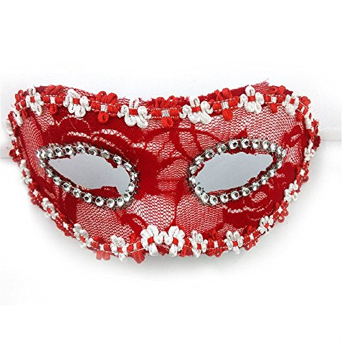 Face mask Shield Veil Guard Screen Domino False Front Halloween Witch Dance Full face Children Princess mask mask D3 for $<!--$25.41-->