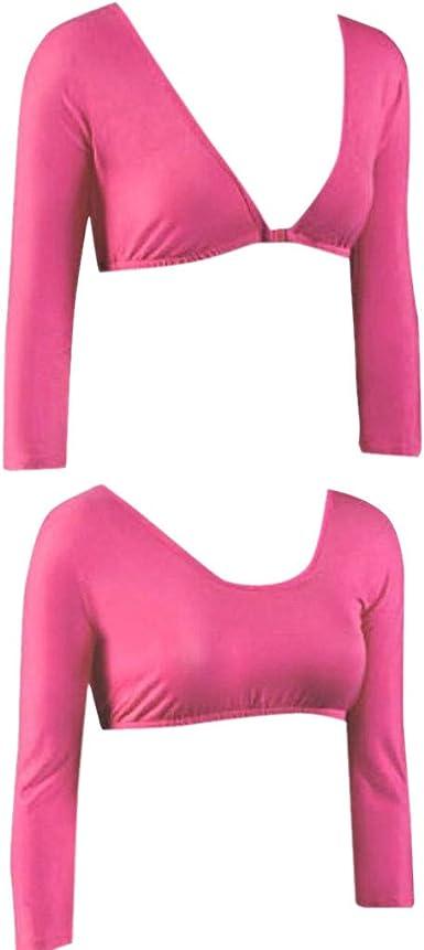 Cinnamou_mujer Transparente Malla Camiseta Tops de Ombligo ...