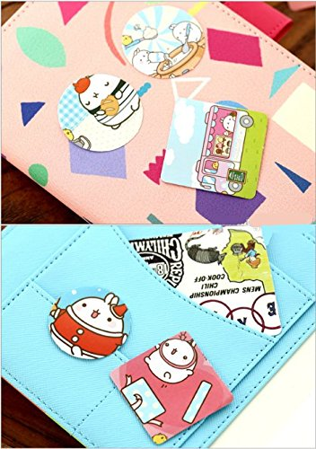 "2 Pack of 46 Pcs Lovely Cute ""Molang Rabbit"" Calendar Diary Book Envelope Label Sticker Scrapbook Decoration Sticker Photo #3"