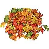 Assorted Mini Fall Color Oak Leaves - Autumn Weddings, Flowergirl Leaves, Fall Decor
