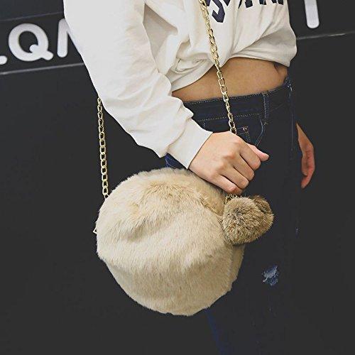Sac pour bandoulière à Main Femme école et fête à Hiver Sac et Automne a Sport Peluche Couleur Bonbon Voyage Kaki en Mode Élégant Shopping Loisirs Main Sac WINJIN Femme 6UxT6wqr