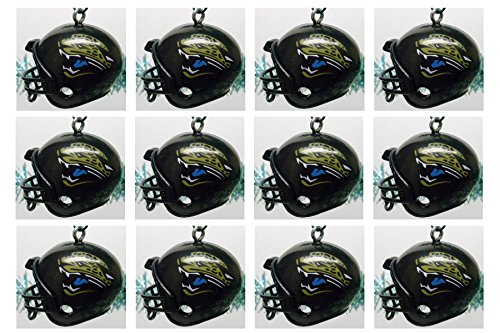Jacksonville Jaguars Set of 12 Holiday Christmas Tree Ornaments Featuring Jaguars Team Ornaments Ranging from 1.5