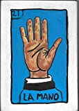 Loteria, La Mano, Wooden Wallart, Carved and Painted Wall Sculpture, measure: approx. 8 X 11''. Made to Order (Allow 1- 4 weeks for production & delivery)
