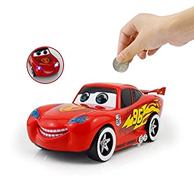 Interestingsport Cartoon Cars 2 Lightning McQueen Piggy Bank Coin Bank Money Banks Car Toy for Kids