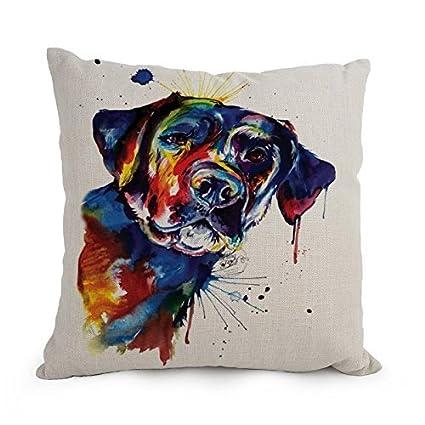 beautifulseason 12 x 20 Inches/30 por 50 cm perro Art Watercolor almohada, doble