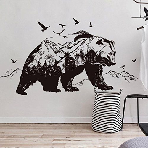 Vacally Wall Decor DIY Removable Wall Decal Family Home Sticker Wallpaper Mural Art Home Decor Living Room Bedroom Background