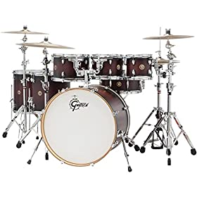 "Gretsch CM1E826PSDCB 2014 Catalina Maple 6-Piece Shell Pack with 8"" Tom Tom, Satin Deep Cherry Burst 20"
