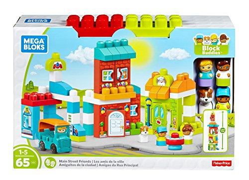 Mega Bloks Block Buddies Main Street Friends Playset