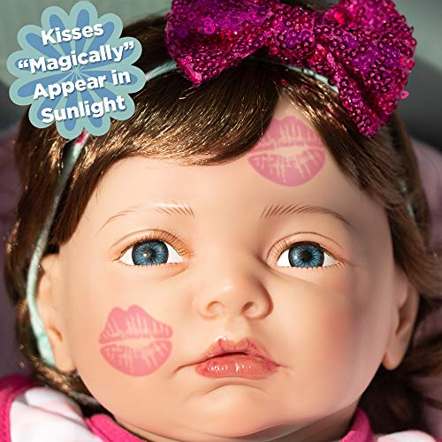 Toddler Middleton Lee Doll - Paradise Galleries Reborn Toddler Doll Sweet Kisses with UV Color Changing Kisses, 21 inches GentleTouch Vinyl & Weighted Body, 5-Piece Doll Gift Set