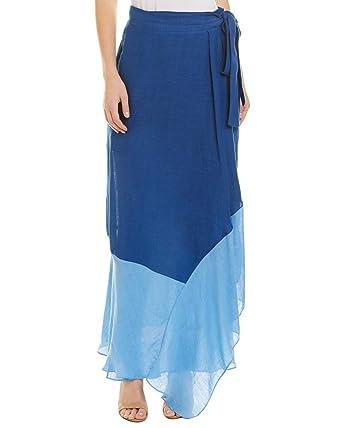 e395d5a2de3d2 Amazon.com: Diane von Furstenberg Womens Draped Wrap Linen-Blend ...