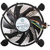 SilverStone Low Profile 90mm Fan CPU Cooler for LGA 1156 Platforms NT07-1156 (Black)