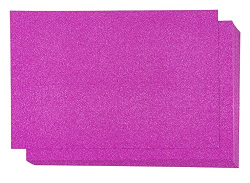 Glitter Cardstock Paper - 24-Pack Hot Pink Glitter Paper for DIY Craft Projects, Birthday Party Decorations, Scrapbook, Double-Sided, 250GSM, 8 x 12 (Pink 12x12 Scrapbook Paper)