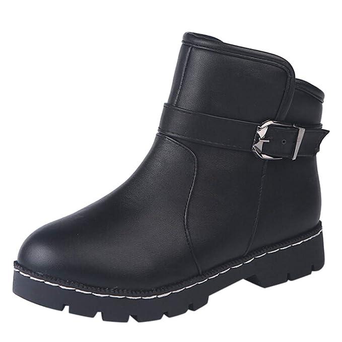 Botas tacón cuña Altos para Mujer Otoño Invierno ZARLLE Zapatos De Mujer Botines Inglaterra BritáNica Botas TacóN Bajo Scrub Retro Felpa Mantener Caliente ...