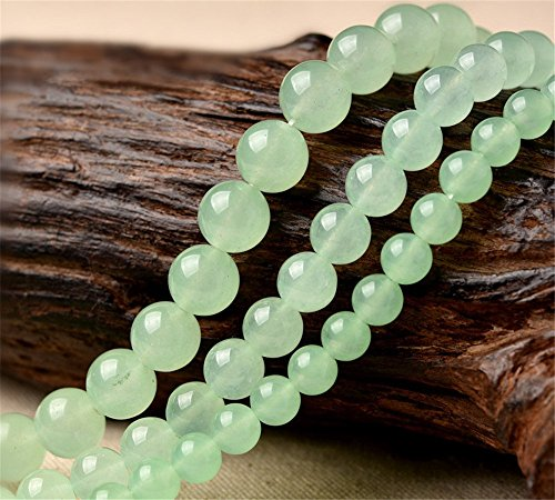 6 Mm Light Green (Natural Light Green Jade Beads Smooth Polished Round 4mm-12mm 15.4 Inch Full Strand for Jewelry Making (GJ10) (6mm))