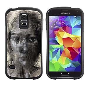 Suave TPU GEL Carcasa Funda Silicona Blando Estuche Caso de protección (para) Samsung Galaxy S5 / CECELL Phone case / / Painting Pencil Art Woman /