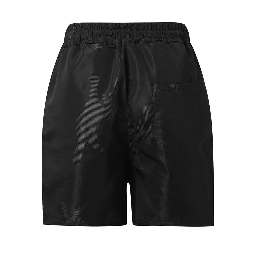 YenMY Mens Sports Camouflage Jogging Elasticated Beach Waist Shorts Pants Trousers