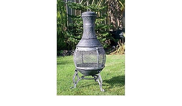 89 cm hierro fundido barbacoa Chimenea de jardín patio calentador de acero construido para barbacoa: Amazon.es: Jardín