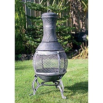 89 cm hierro fundido barbacoa Chimenea de jardín patio calentador de acero construido para barbacoa