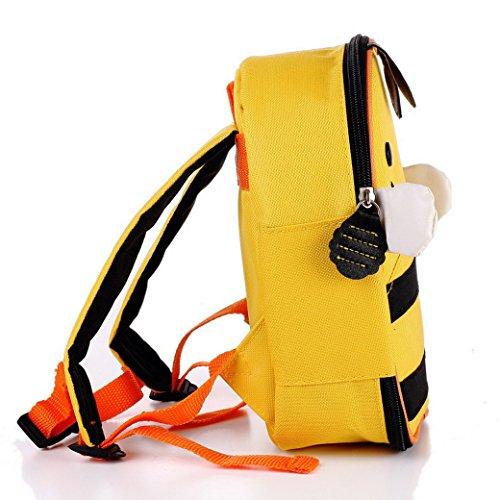 TANGDA Children Toddler Kid's School Bag Lunch Bag Insulated Bag Animal Cartoon Bee Backpack Yellow