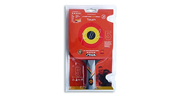 Amazon.com : Stiga J.M. Saive Touch Table Tennis Paddle : Table Tennis Rackets : Sports & Outdoors